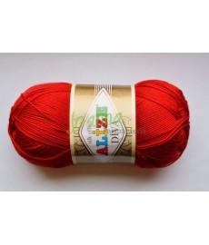 Alize Diva silk effect 106 czerwony