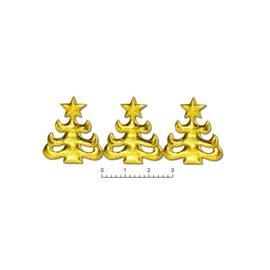 Choinka WZ 96 brokat złota