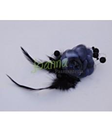 Kwiat z broszką CKB1 czarne