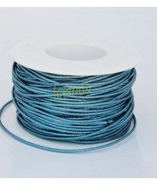 Rzemień 2mm 13/69 opalizujący niebieski