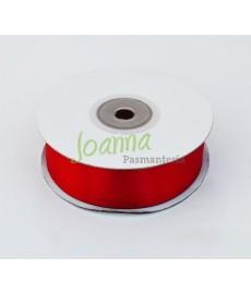 Tasiemka satynowa,c. czerwony,25mm/25m