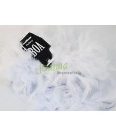 Boa, biały, 180cm