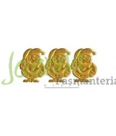 Mikołaj WZ 92 brokat złoty