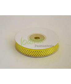 Tasiemka satynowa,żółty,12mm/25mmk