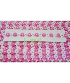 Taśma Fiore -11 /50m/ biało różowe