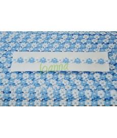 Taśma Fiore -11 /50m/ biało niebieskie