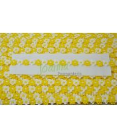 Taśma Fiore -11 /50m/ biało żółte