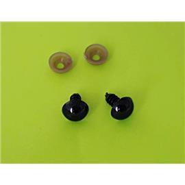 Małe oczka czarne-20mm-para