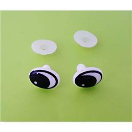 Oczy bezpieczne plast. 11x15 para