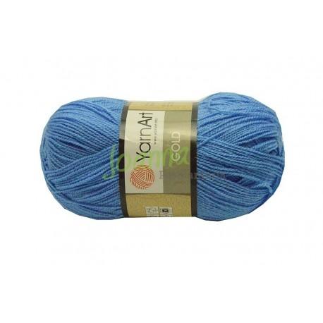 YarnArt Gold kolor 9376 niebieski