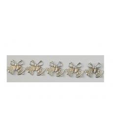 Dzwonek  WZ 151 srebrny brokat