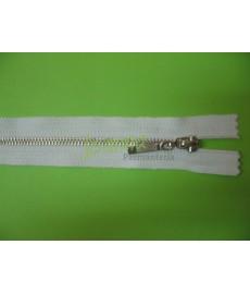 """Zamek metal """"3"""" 16cm biały/srebro"""
