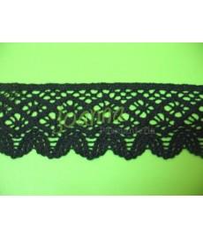 Koronka bawełniana czarna 7222 5cm