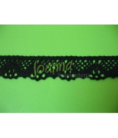 Koronka bawełniana czarna 7099 2,5cm
