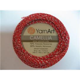 Camellia czerwony/srebrny