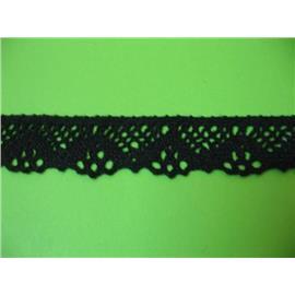 Koronka bawełniana czarna