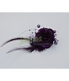 Kwiat z broszką CKB1 fiolet