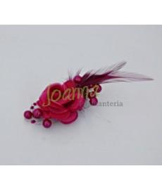 Kwiat z broszką CKB1 amarant