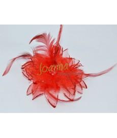Kwiat z broszką CKB1 czerwony