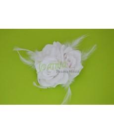 Kwiat z broszka CKB5 biały
