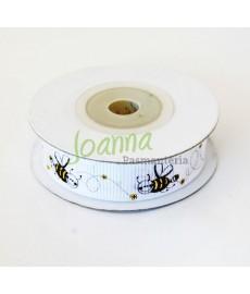 Tasiemka rypsowa Pszczółka,15mm/10m