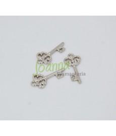 Aplikacje kluczyk, srebrny, 23mm