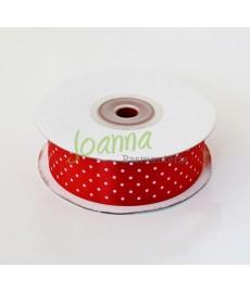 Tasiemka satynowa, czerwony, 25mm/25m
