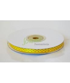 Tasiemka satynowa,c. żółty 6mm/25m