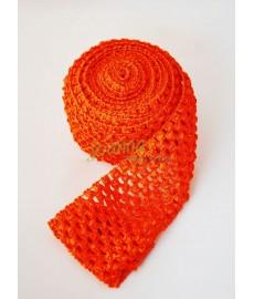 Guma ozdobna 075 TUTU szer 7cm pomarańcz