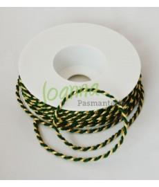 Sznur skręca.zielono-złoty 8452.245.35