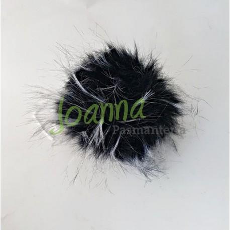 Pompon C1 (10cm) szaro-czar