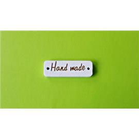 """Drewniane metki """" Hand Made """" białe"""