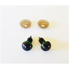 Oko bezpieczne C7 zielone 10mm