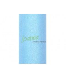 Tiul glittery, błękitny 0,15x9m 1szt