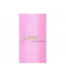 Tiul glittery, j.różowy 0,15x9m 1szt