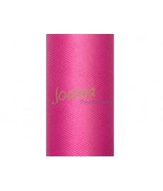 Tiul gładki, różowy 0,15x9m 1szt