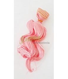 Włosy do lalek Falowane 15cm RÓŻOWE