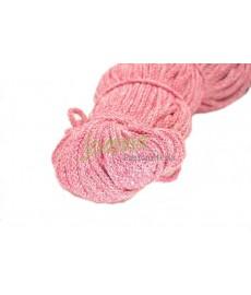 Sznurek bawełniany 5mm melanż róż
