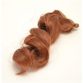 Włosy do lalek Falowane 15cm MAHOŃ