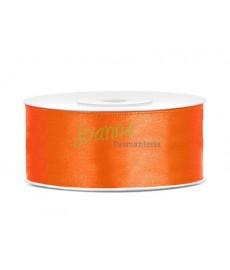 Tasiemka satynowa,pomarańcz,25mm/25m
