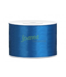 Tasiemka satynowa, niebieski,50mm/25m